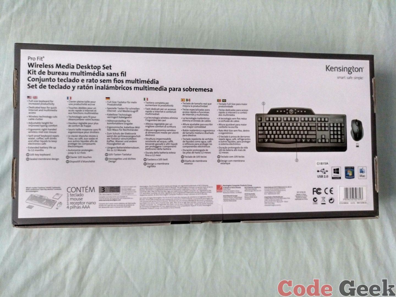 Conjunto inalámbrico para ordenadores fijos Pro Fit™ de Kensington Review
