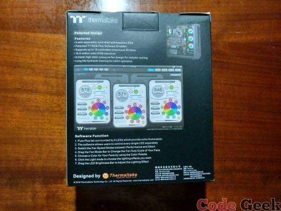 Pure Plus RGB 12 Radiator Fan TT Premium Edition