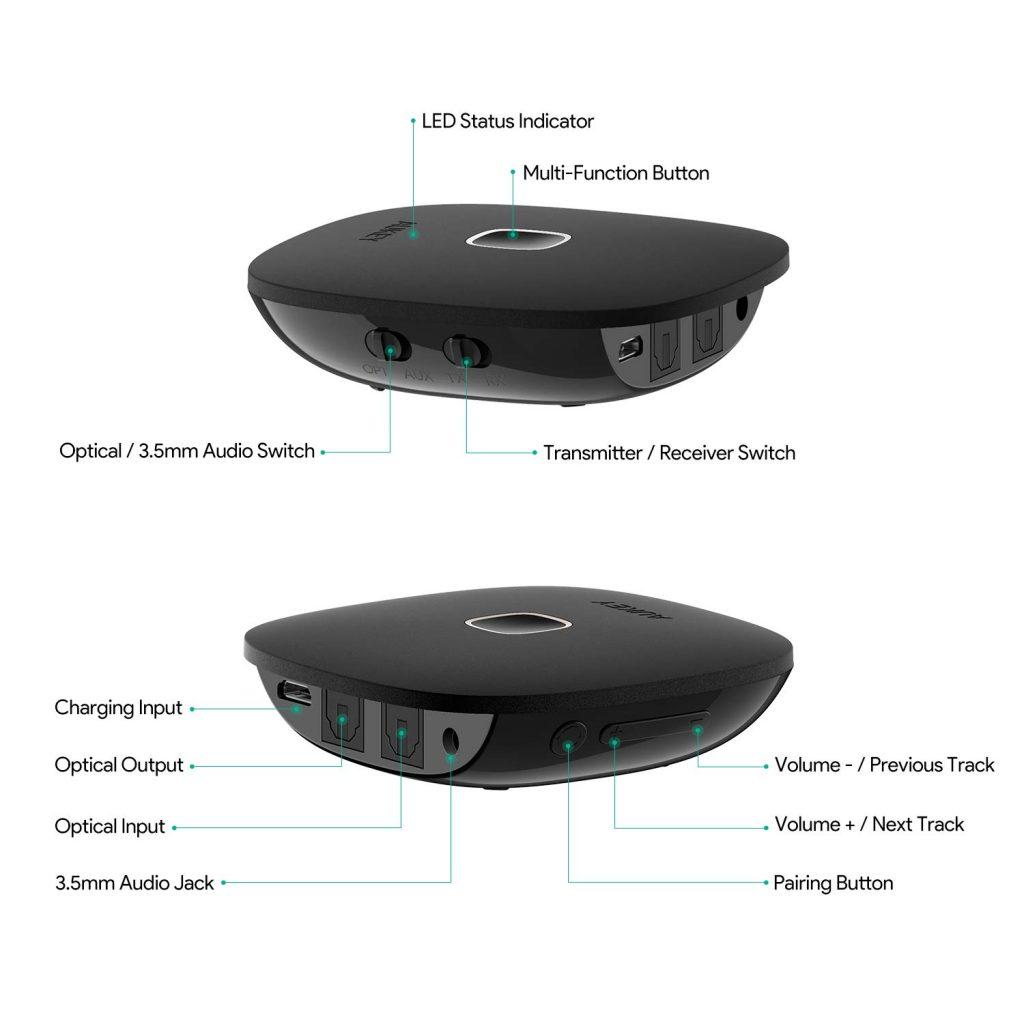 AUKEY Receptor Transmisor Bluetooth 5.0 - Review en Español (Análisis completo)
