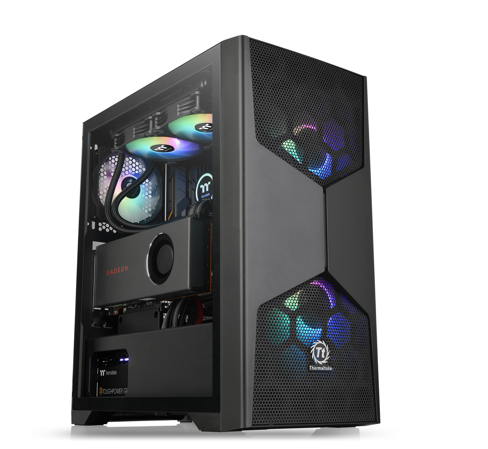 NdP - Thermaltake Nueva Serie Commander G Cristal Templado ARGB Mid-Tower Chassis