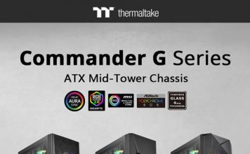 NdP – Thermaltake Nueva Serie Commander G Cristal Templado ARGB Mid-Tower Chassis