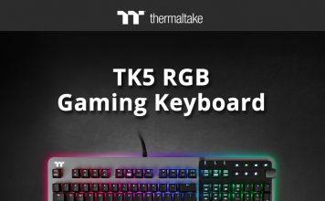 Thermaltake TK5 RGB Teclado Gaming ,TM5 RGB y TM5 RGB Micrófono Inalámbrico Gaming