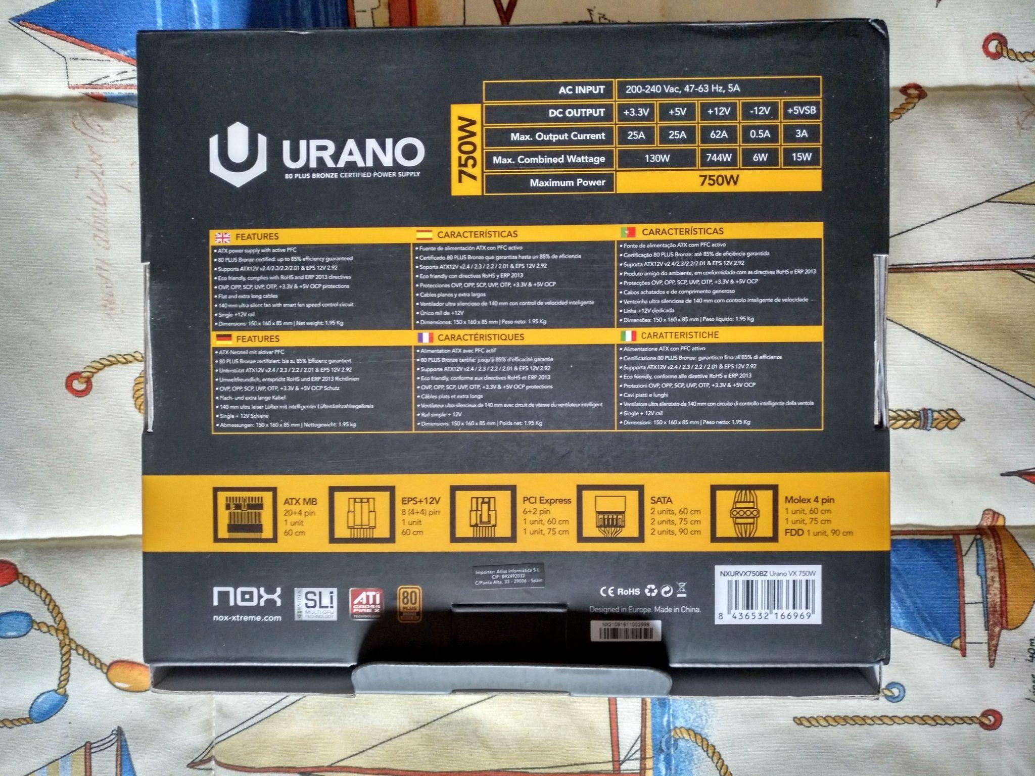 Nox Urano VX 750W 80+ Bronze - Review